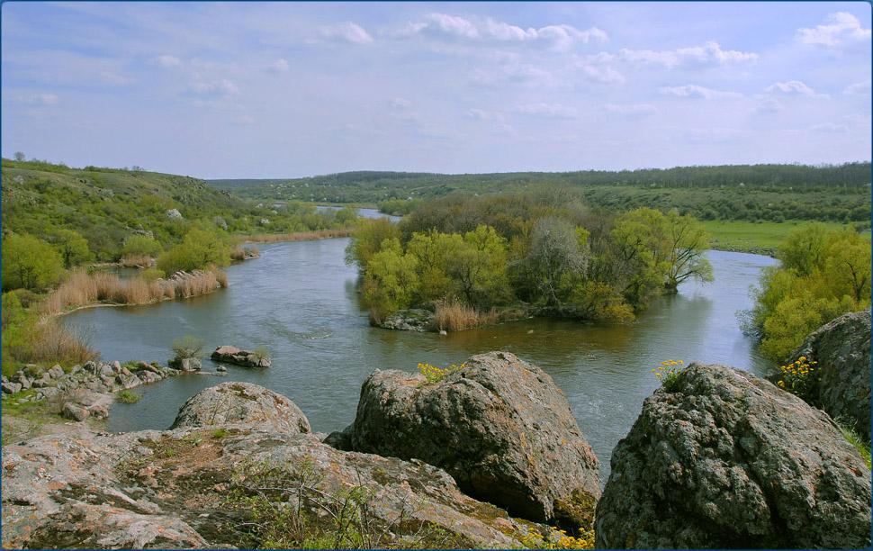 Река Южный Буг удивительно красива.