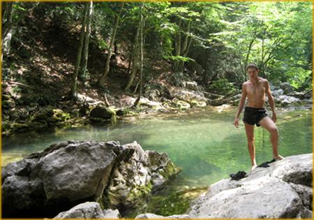 Большой каньон Крыма, ванна молодости