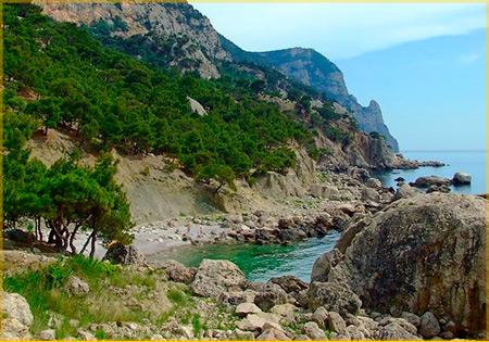 поход вдоль берега черноморского побережья