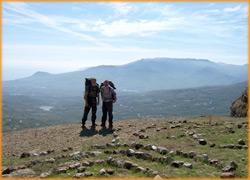 Живописный вид с вершины горы Северная Демерджи.