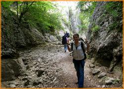 Продолжаем путь в ущелье Крымского каньона.