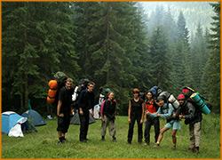 Сбор группы перед походом.