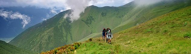 Активный туризм в Украине - панорама гор