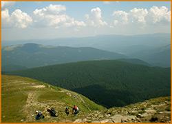 Путники стремятся к вершине горы.