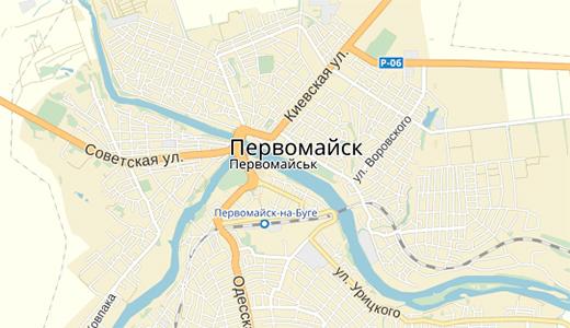 Ориентир на карте Первомайск