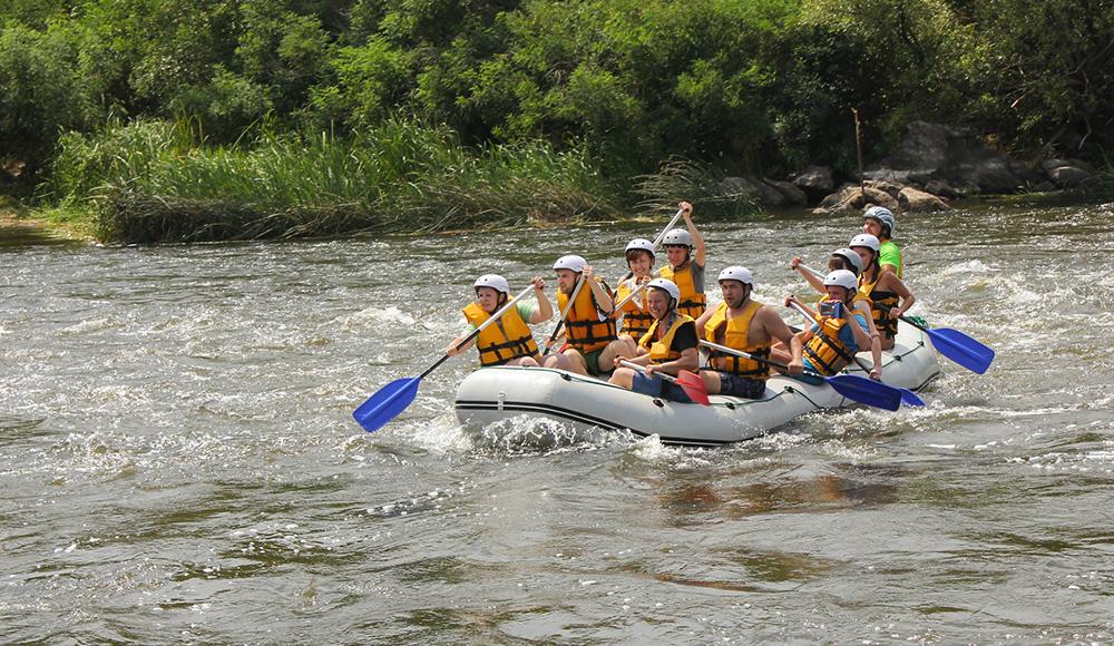 Корпоративный рафтинг сплав по реке Южный Буг